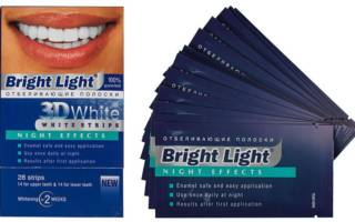 Отбеливающие полоски Bright Light Night Effects