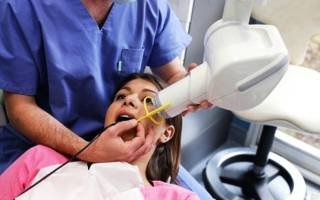 Процесс прицельного снимка зуба