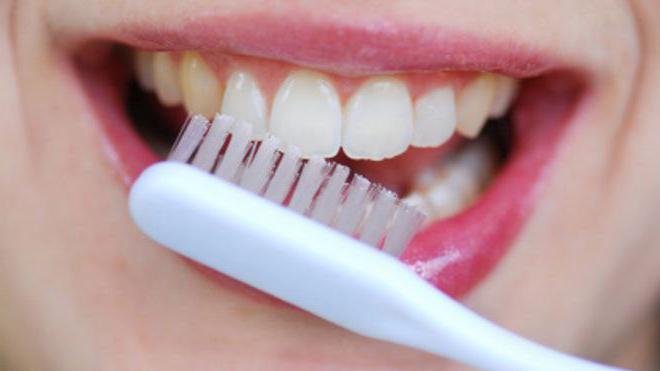 Зубная щетка и зубы