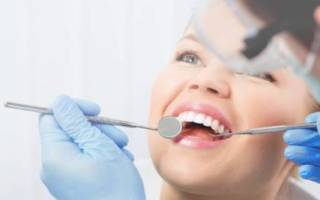 После чистки зубов