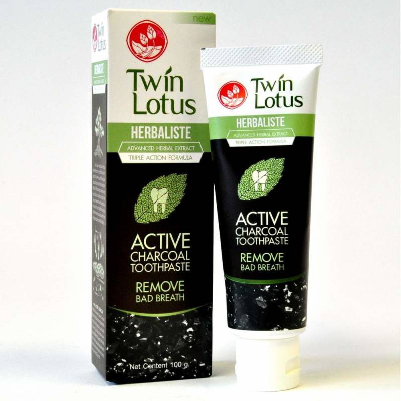 Зубная паста Twin Lotus Active Charcoal Toothpaste