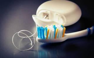 Зубная нить и щетка
