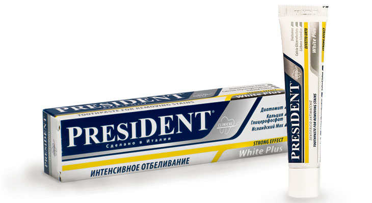 Паста PRESIDENT White Plus